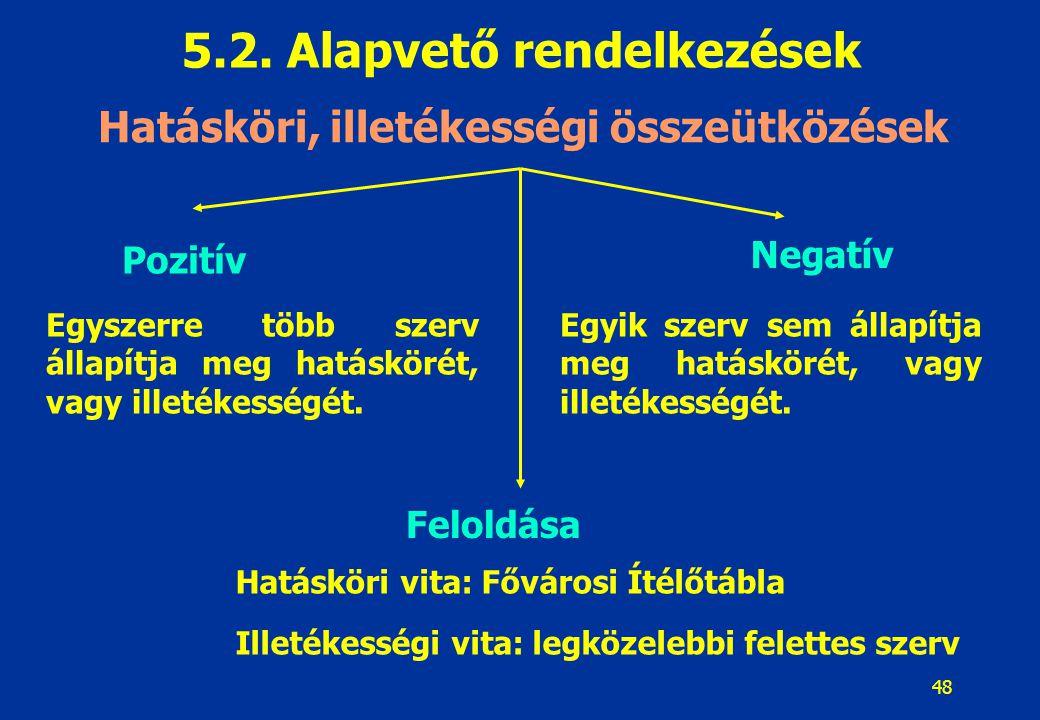 49 5.2.Alapvető rendelkezések 5.2.2.5.
