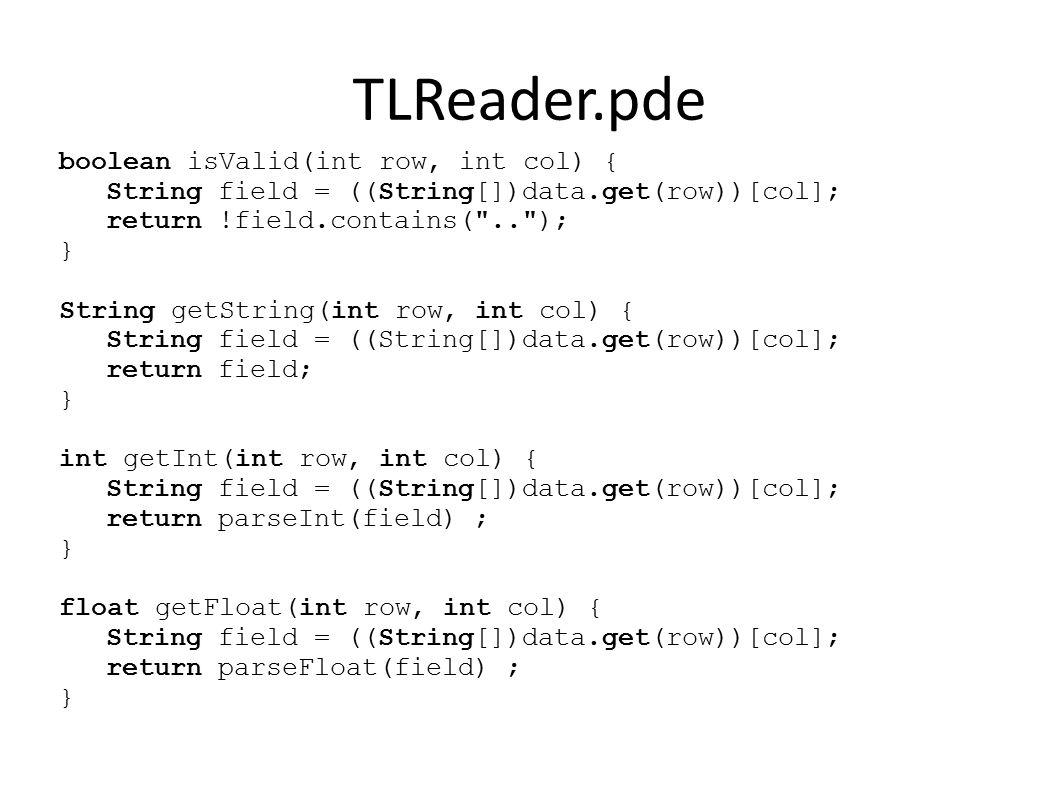 TLReader.pde float getColMax(int col) { float fmax = MIN_FLOAT; for (int i=0; i<data.size(); ++i) { if ( isValid(i, col) ) fmax = max(fmax, getFloat(i, col)); } return fmax; } int getColumnCount() { return ((String[])data.get(0)).length; }