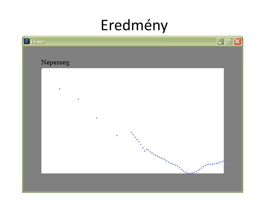 6. Reprezentáció finomítása Ne csak pontokként jelenjenek meg az adatok, hanem vonalak láncaként