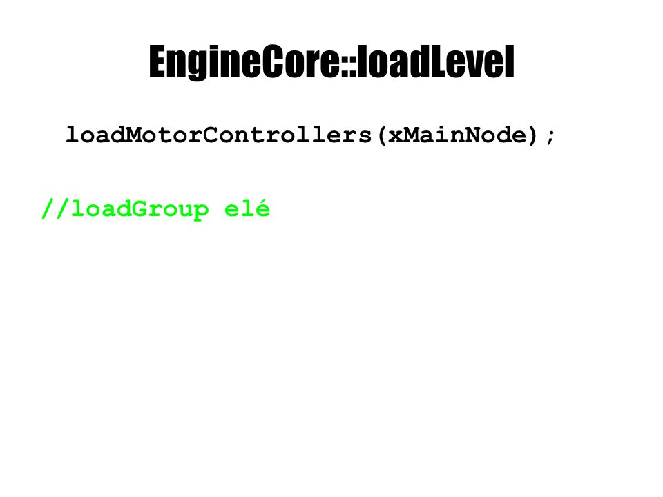 EngineCore::loadPhysicsEntities PhysicsEntity* physicsEntity = new PhysicsEntity(iShadedMesh->second, iPhysicsModel->second, nxScene, position); const wchar_t* controllerName = physicsEntityNode L controller ; if(controllerName){ ControllerDirectory::iterator iController = controllerDirectory.find(controllerName); if(iControler != controllerDirectory.end()) physicsEntity-> setController(iControl->second); }