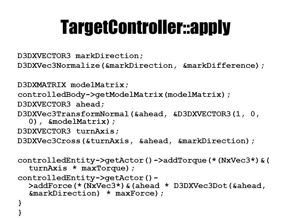 EngineCore // vezérlők legyártása entitások betöltése előtt void loadTargetControllers(XMLNode& xMainNode); // célpontok bekötése entitások betöltése után void finishTargetControllers(XMLNode& xMainNode); void loadTargets(XMLNode& targetControllerNode, TargetController* targetController);