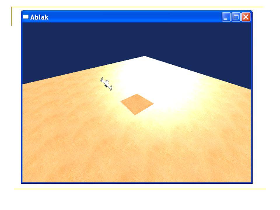 Feladat 30 űrhajó körözzön a piramis körül!