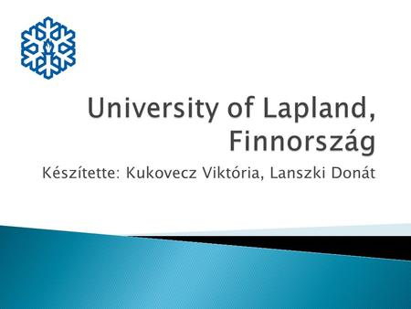 Készítette: Kukovecz Viktória, Lanszki Donát.  Elsősorban tanítós, de óvodapedagógus kurzusok is vannak.  Finnish System of Education, Global Education,