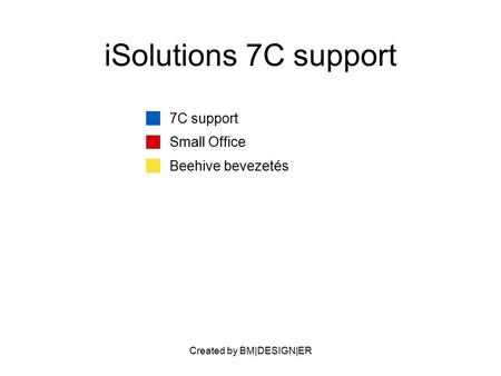Created by BM|DESIGN|ER iSolutions 7C support 7C support Small Office Beehive bevezetés.