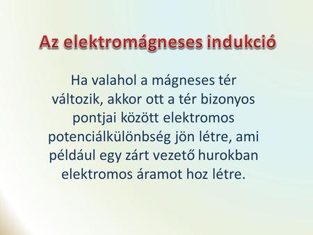 Elektromágneses indukció ppt