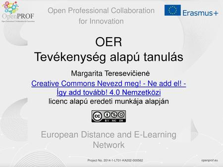 European Distance and E-Learning Network