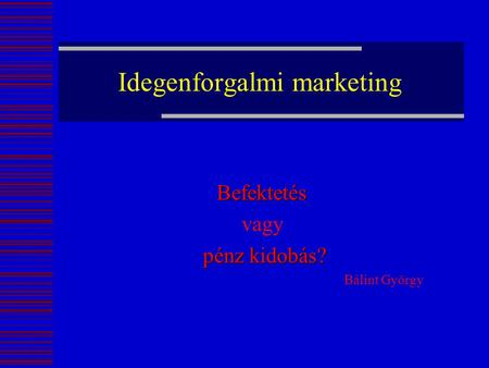 Idegenforgalmi marketing