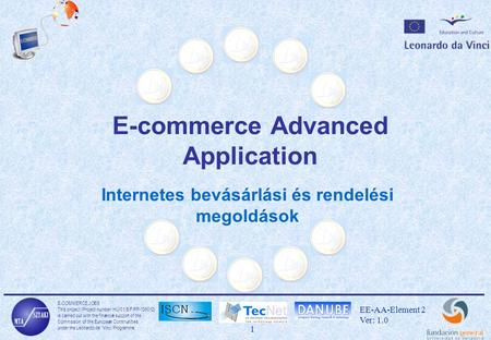 E-COMMERCE JOBS This project (Project number: HU/01/B/F/PP-136012) is carried out with the financial support of the Commssion of the European Communities.