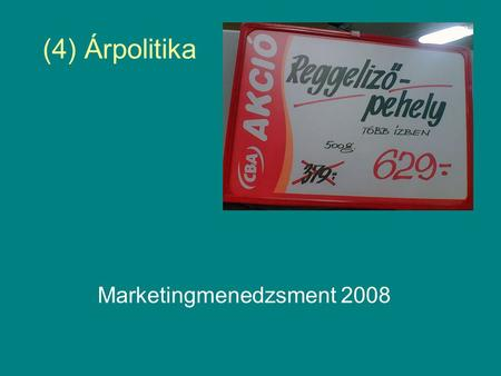 Marketingmenedzsment 2008