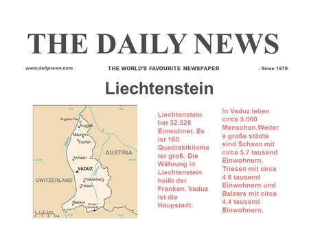 THE DAILY NEWS Liechtenstein