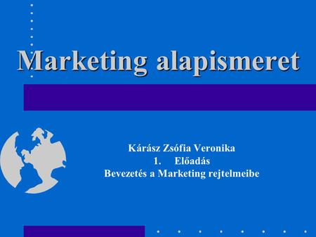 Marketing alapismeret