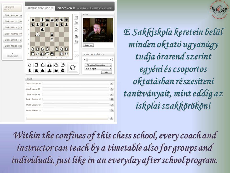 Egyszerre hatan is részt vehetnek egy órán! Six pupils can attend the lessons simultaneously!