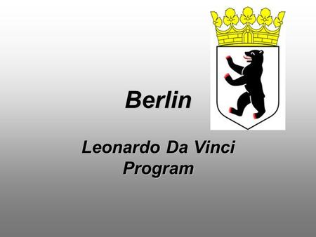 Berlin Leonardo Da Vinci Program. Rübeling+Klar Dental Labor Berlin.