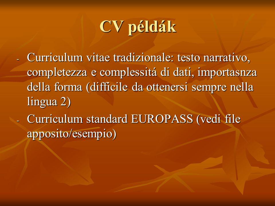 CV példák