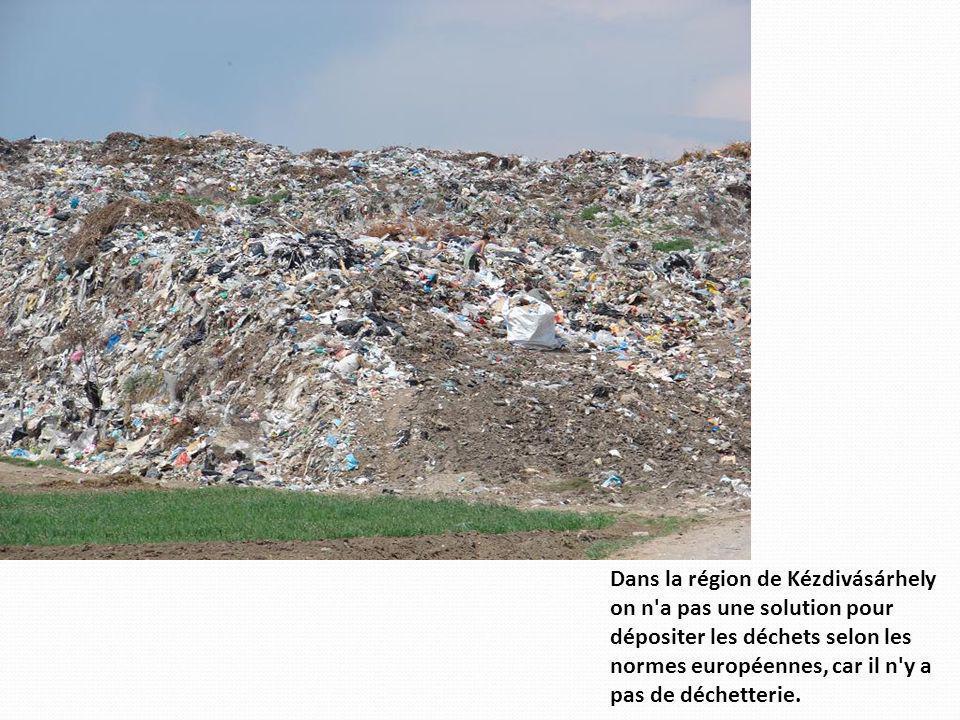 Dans la région de Kézdivásárhely on n a pas une solution pour dépositer les déchets selon les normes européennes, car il n y a pas de déchetterie.