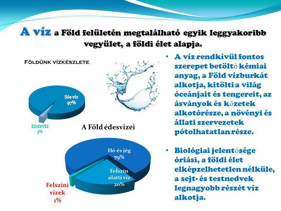 A víz a Föld felületén megtalálható egyik leggyakoribb vegyület, a földi élet alapja.