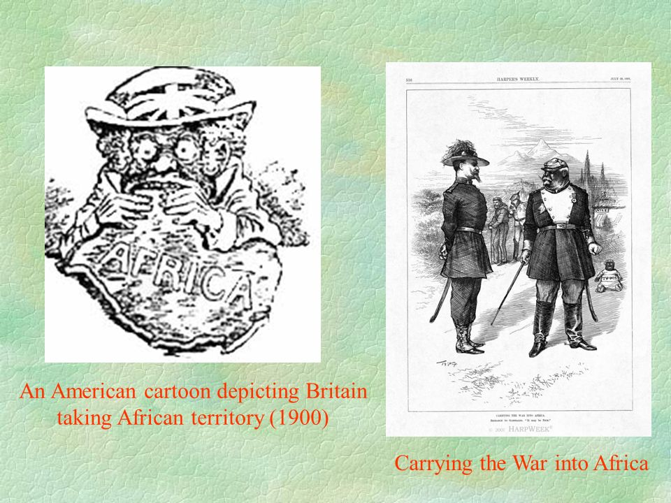 An American cartoon depicting Britain taking African territory (1900)