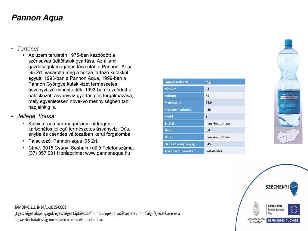 Pannon Aqua Történet Jellege, típusa: