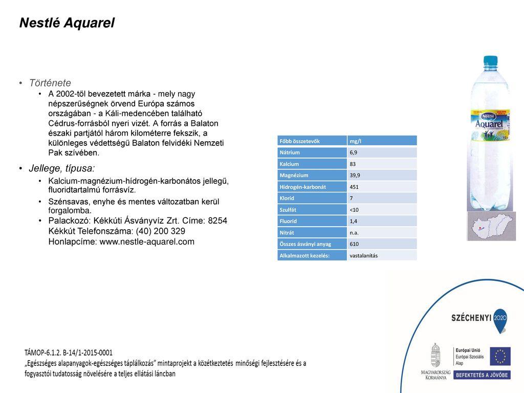 Nestlé Aquarel Története Jellege, típusa: