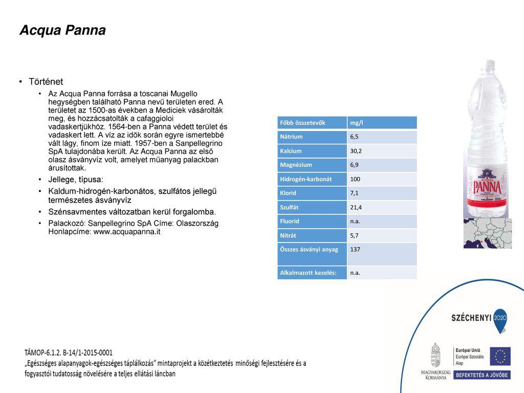 Acqua Panna Történet Jellege, típusa: