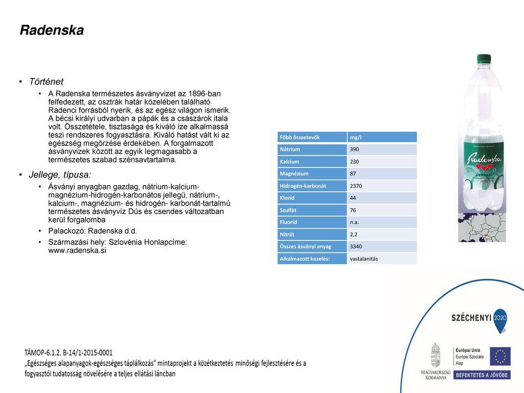 Radenska Történet Jellege, típusa: