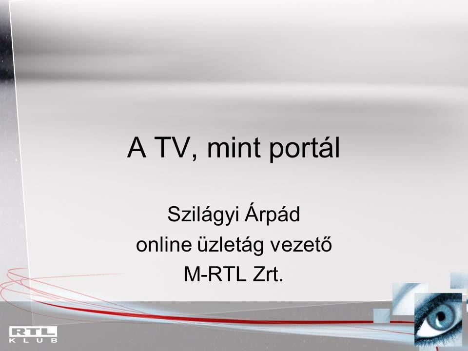 Szilágyi Árpád online üzletág vezető M-RTL Zrt.