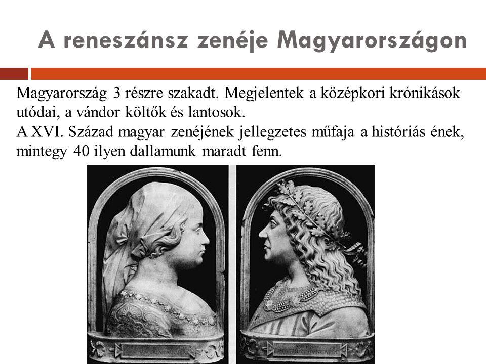 A reneszánsz zenéje Magyarországon