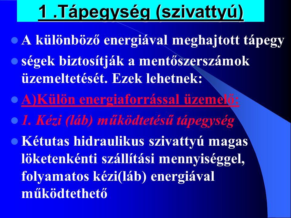 1 .Tápegység (szivattyú)