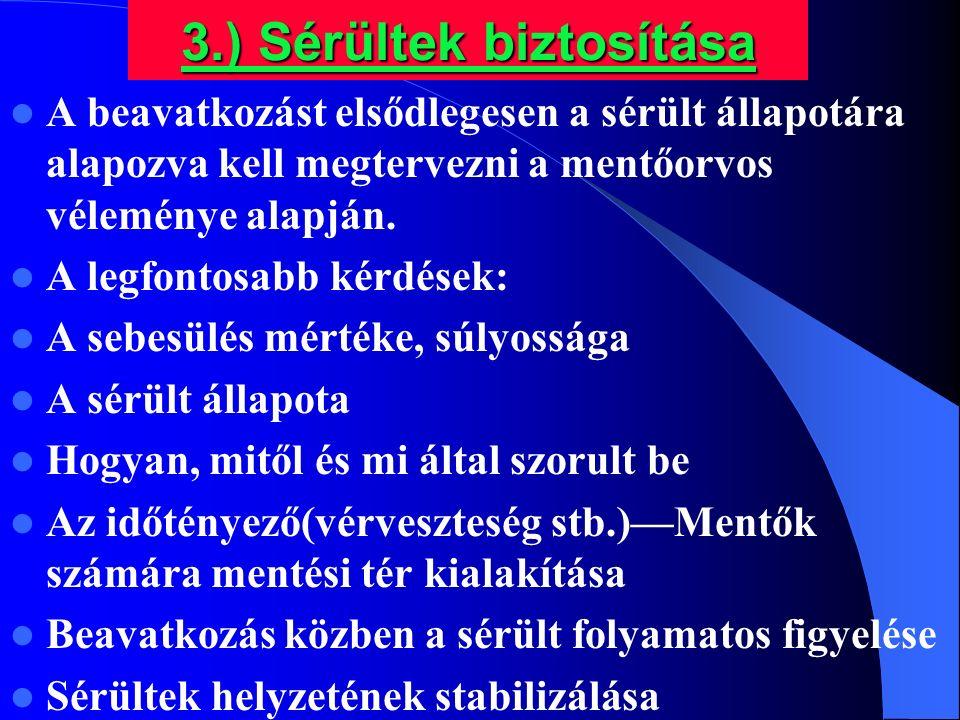 3.) Sérültek biztosítása