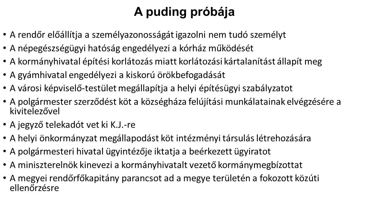 A puding próbája A rendőr előállítja a személyazonosságát igazolni nem tudó személyt. A népegészségügyi hatóság engedélyezi a kórház működését.