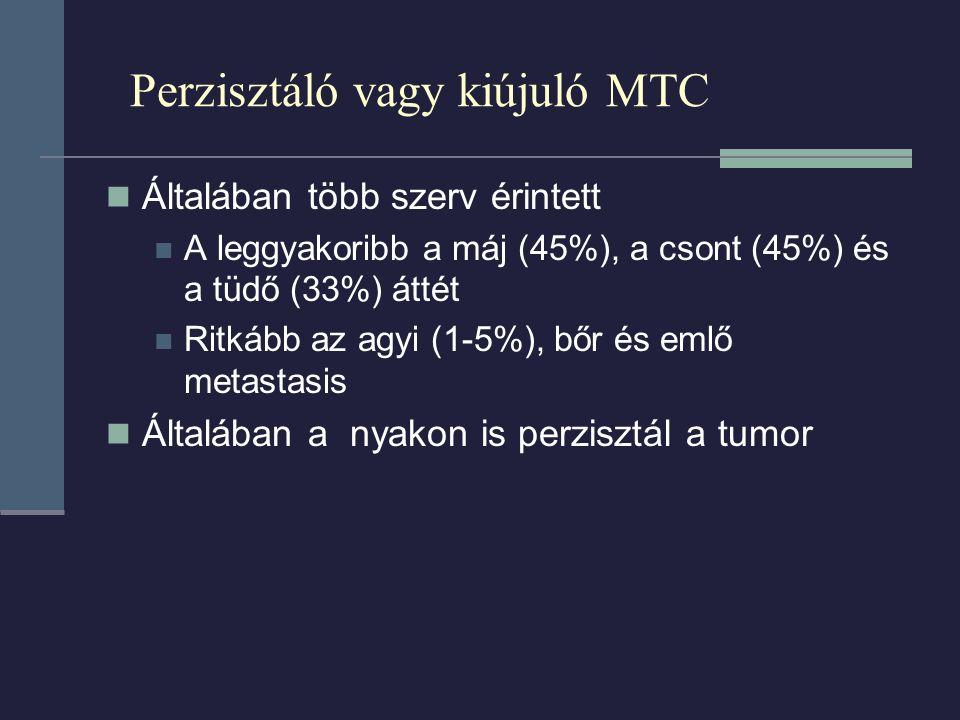 Perzisztáló vagy kiújuló MTC