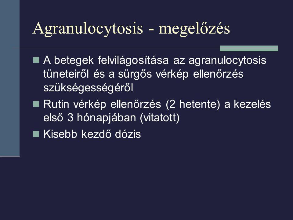 Agranulocytosis - megelőzés