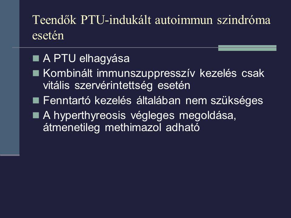 Teendők PTU-indukált autoimmun szindróma esetén