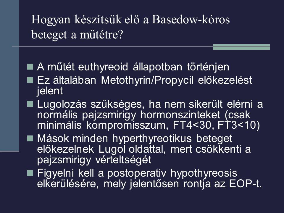 Hogyan készítsük elő a Basedow-kóros beteget a műtétre