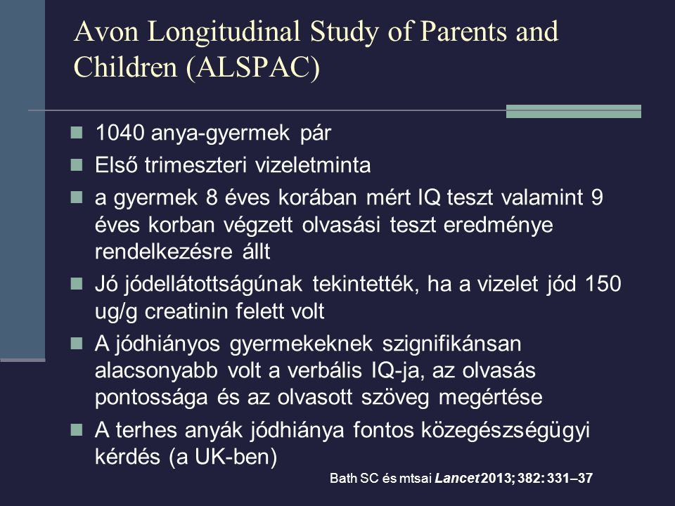 Avon Longitudinal Study of Parents and Children (ALSPAC)