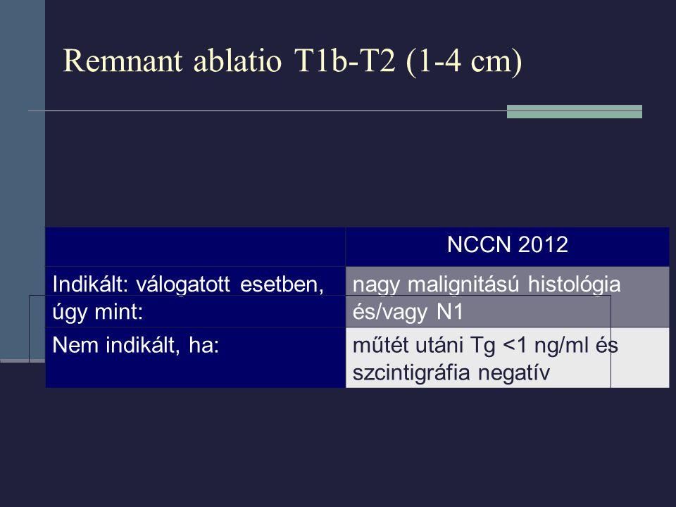 Remnant ablatio T1b-T2 (1-4 cm)