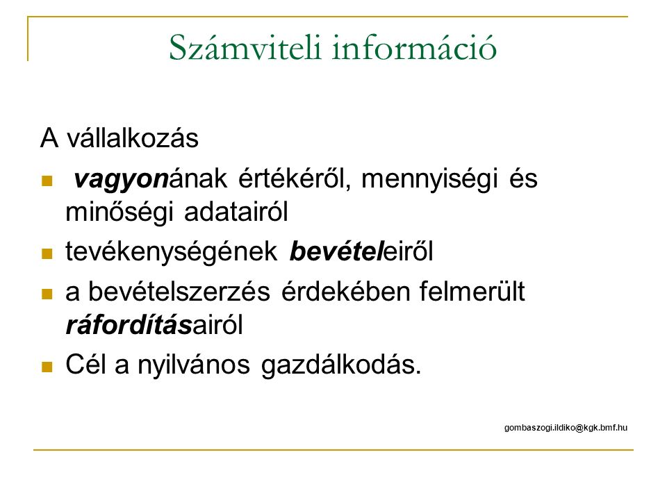 Számviteli információ