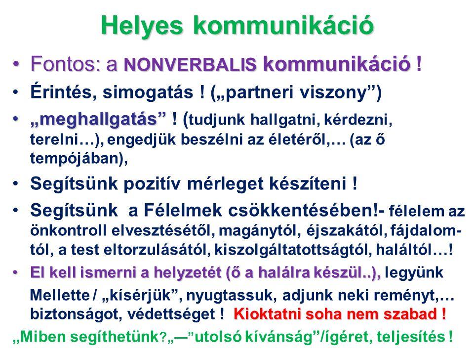 Helyes kommunikáció Fontos: a NONVERBALIS kommunikáció !