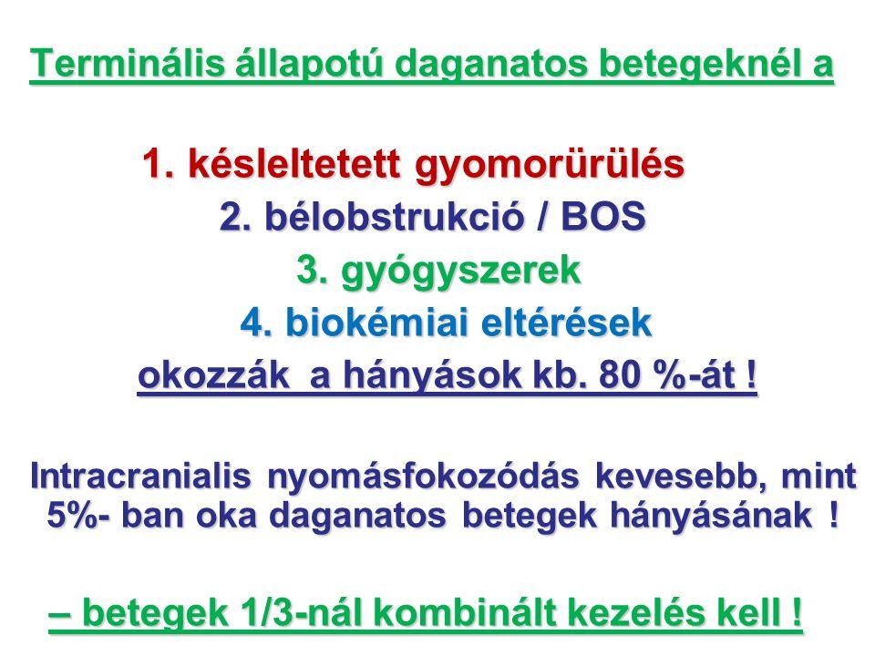 3. gyógyszerek 4. biokémiai eltérések