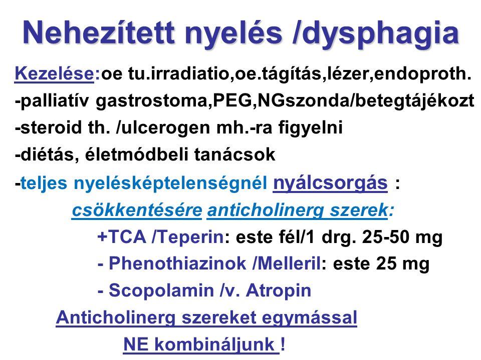 Nehezített nyelés /dysphagia