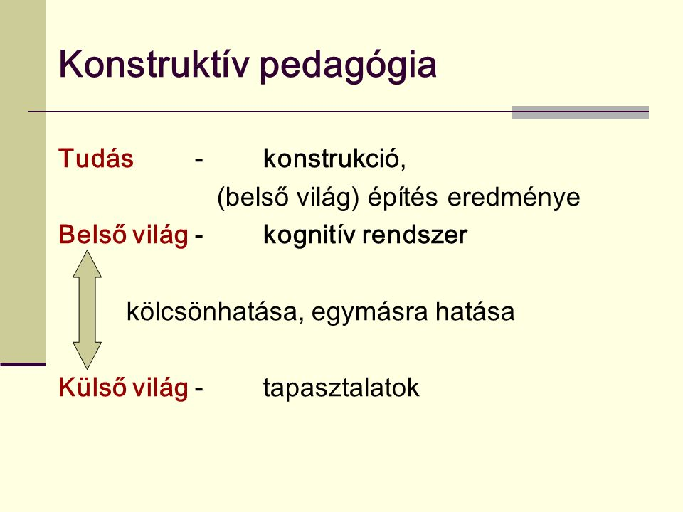 Konstruktív pedagógia