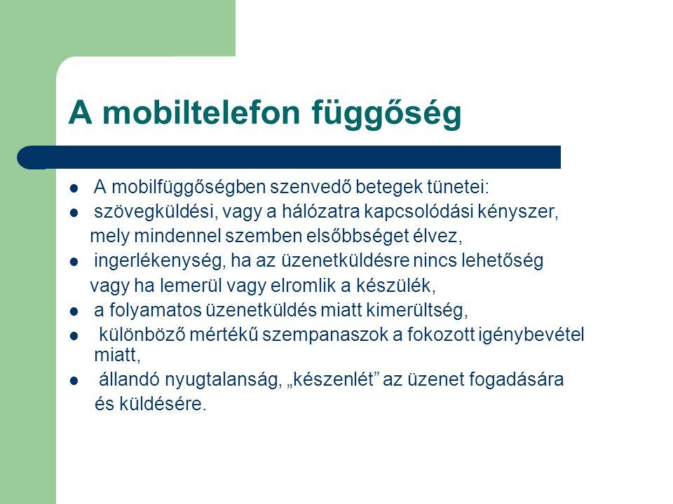 A mobiltelefon függőség