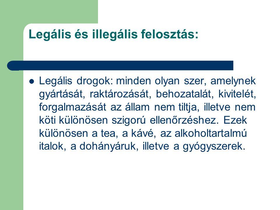 Legális és illegális felosztás: