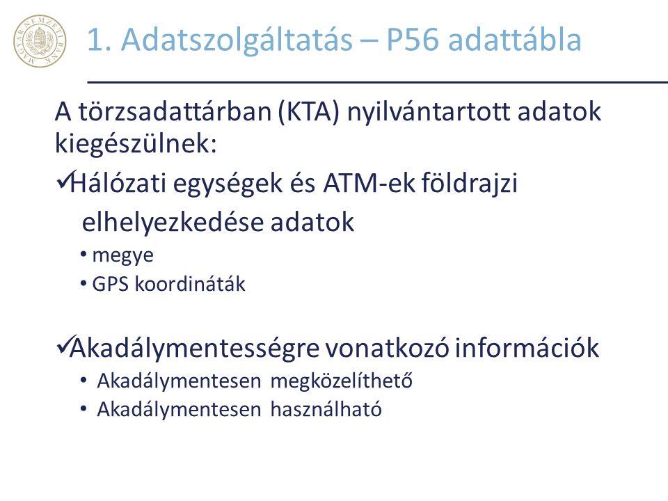 1. Adatszolgáltatás – P56 adattábla
