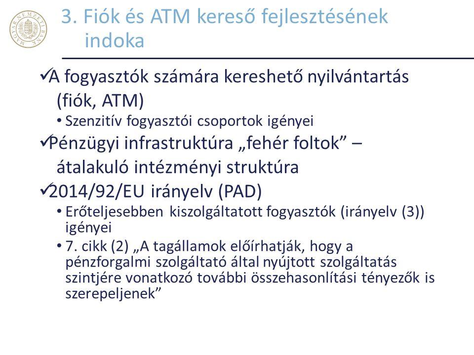 3. Fiók és ATM kereső fejlesztésének indoka