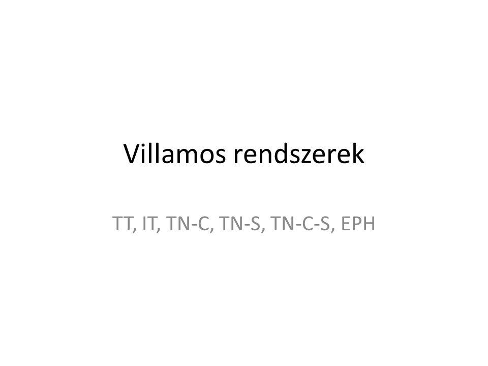 TT, IT, TN-C, TN-S, TN-C-S, EPH