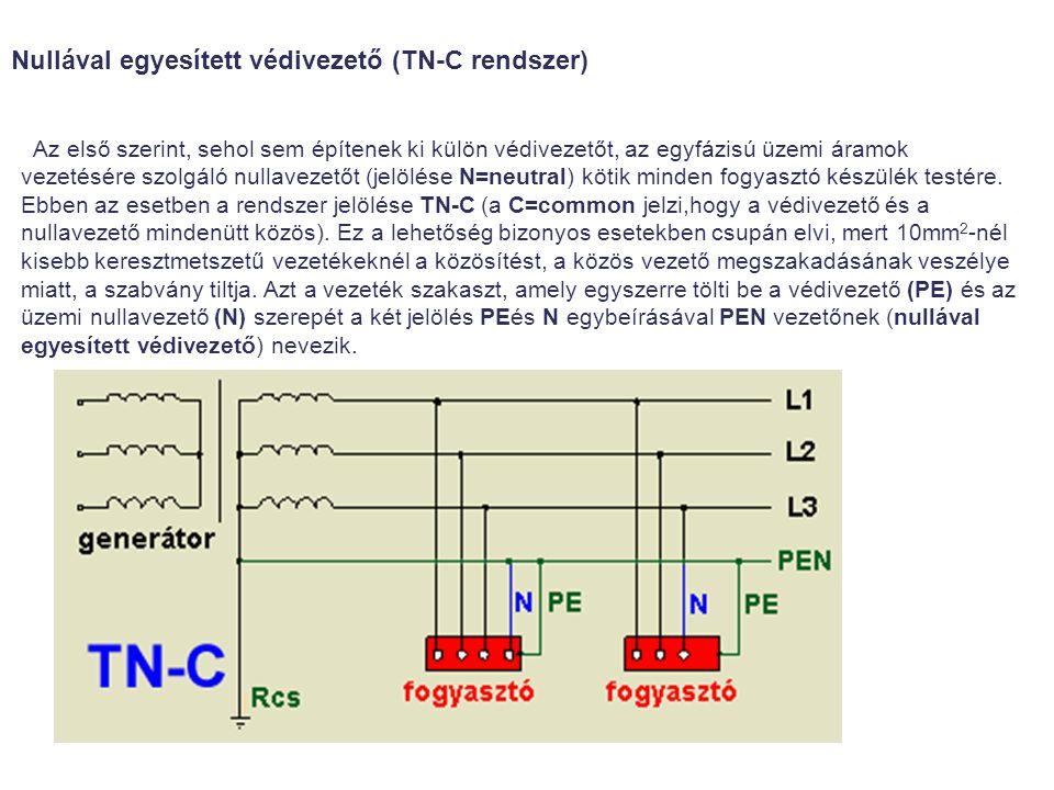 Nullával egyesített védivezető (TN-C rendszer)