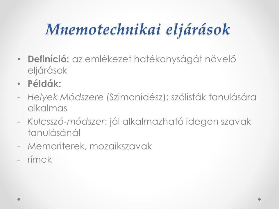 Mnemotechnikai eljárások