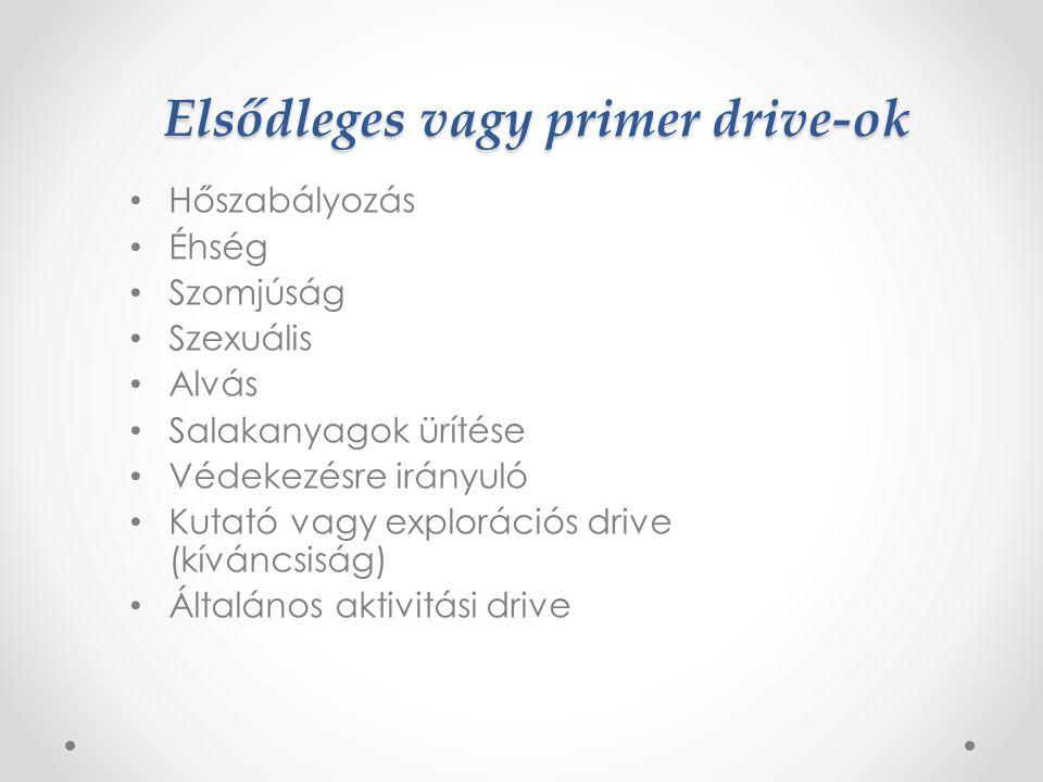 Elsődleges vagy primer drive-ok
