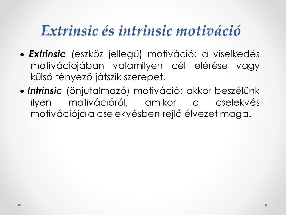 Extrinsic és intrinsic motiváció